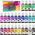Coloranti per Resina Epossidica UV - 24 colori Pigmento Liquido Resina Epossidica per Resina Art, Creazione di Gioielli - Colorante Resina UV Concentrato per Tumbler, Vernici, Artigianato - 24 x 10ml