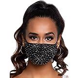 Leg Avenue Naya 3D mascherina con strass, Taglia Unica