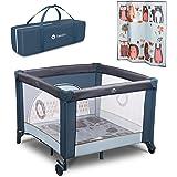 LIONELO Fie box bambini pieghevole box neonati lettino da viaggio dalla nascita fino a 15 kg con entrata laterale borsa per i