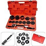 Todeco - Coffret d'Outils pour Roulement de Roue, 18 Pièces pour Solution de Réparation des Roulements de Roue - Matériau: Acier C45 - Taille de la valise: 52 x 30 x 9 cm - 17 pièces, avec une mallette rouge