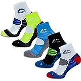 More Mile London - calcetines de running para hombres (paquete de 5)
