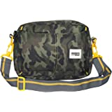 Inspire bags Travel Sling bag for Men Women Crossbody bag with detachable belt (Camouflage) (9x10x5inch) (Grey- Army print)