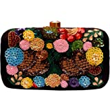 Duchess women bridal Fancy Party Hand Embroidered Box Clutch Purse with Sling For Girls and Women