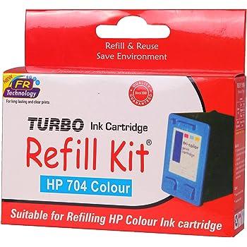 Turbo Refill Kit for hp 704 Multi tri Colour Ink Cartridge