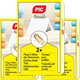 PIC - 6X - Trampa para polillas de la Ropa - remedio contra Las polillas de la Ropa, Adecuado para la protección de Toda la R