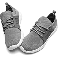 BUBUDENG Kids Trainers Slip On Sneakers Mesh Sports Running Shoes Child Tennis Breathable Lightweight Fashion School…