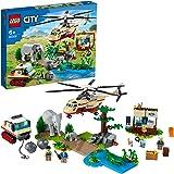 LEGO 60302 City Wildlife Rescue Operatie Jungle Dierenkliniek Set met Helikopter Speelgoed, Cadeau voor Kinderen 6