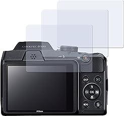 3 x Displayschutzfolie matt/entspiegelnd für Nikon Coolpix B500