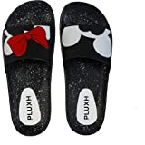 PLUXH Women's Soft Foot Bed Flip-Flops | Lightweight Slippers for Outdoor and Home Wear Slide