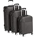 AmazonBasics Geometric Hard Shell Expandable Luggage Trolley Suitcase Set