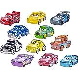 Mattel Disney Cars FBG74 - 1Mini Racer Fahrzeug, 1 Poster, farblich sortiert