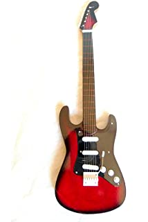 Miniatur Gitarre Deko Gitarre Handarbeit aus Holz 26 cm #128