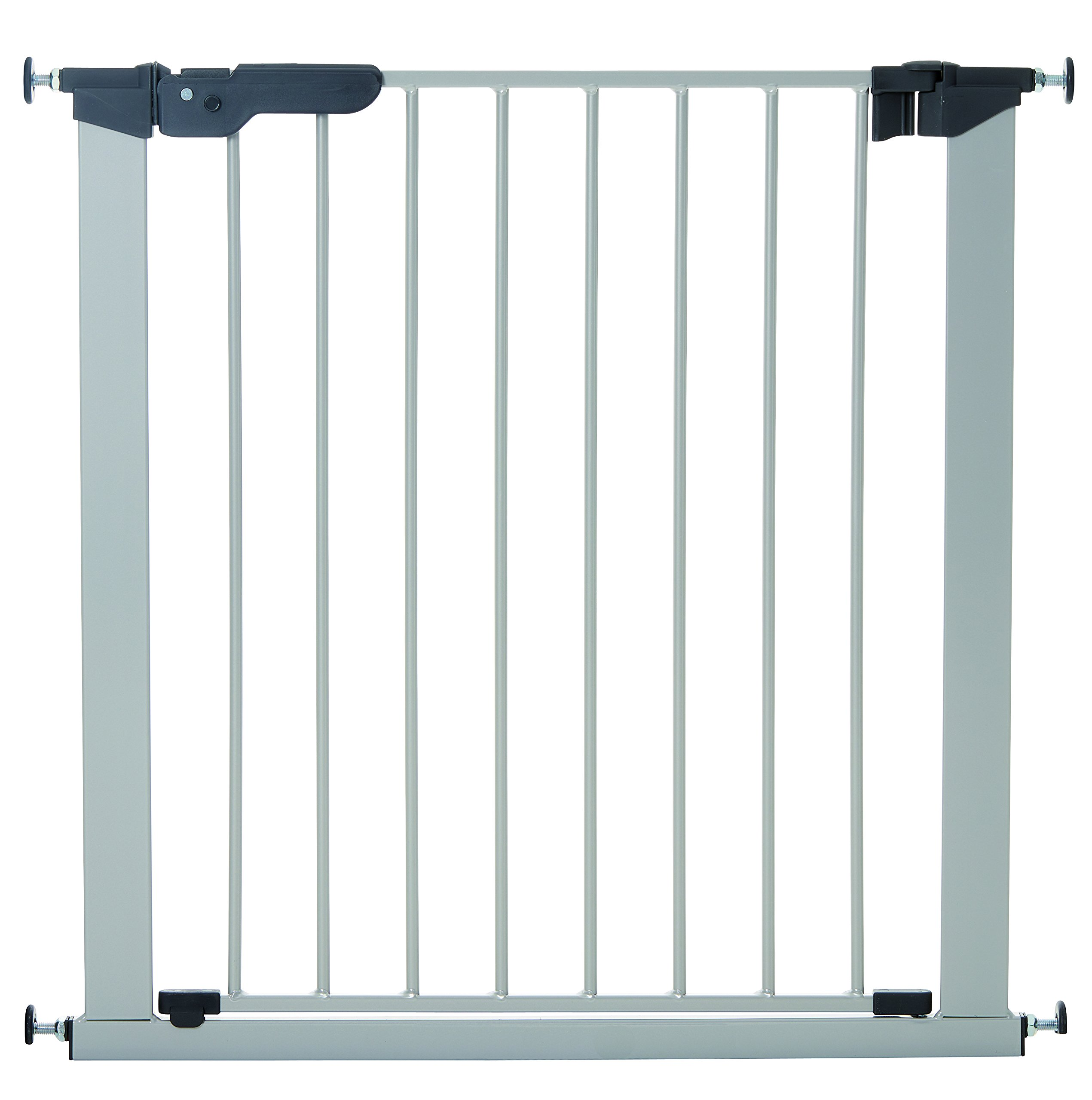BabyDan Premier Indicator Stair Gate Pressure Fit 73 - 80 cm silver - Collection 2015  True pressure fit safety gate Covers openings from 28.9 up to 46.9 inches with separate available extensions Extra safety pressure indicator built into the slim line handle 1