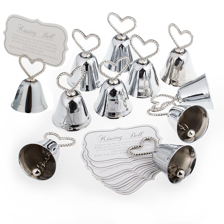 JZK� 20 x Segnaposto campanelle tirabaci per bomboniere matrimonio nascita battesimo comunione comp