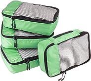 AmazonBasics Kleine Kleidertaschen, 4 Stück, Grün