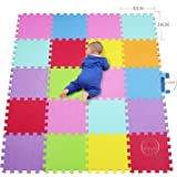 qqpp Tappeto Bambini Puzzle con Certificato CE in Morbido Gomma Eva | Tappeti da Gioco per Bambina | Tatami. 20 Pezzi…