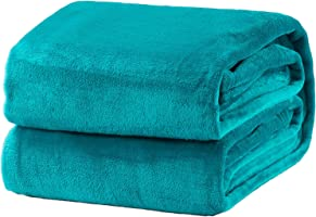 Bedsure Flannel Fleece Throw Blanket Lightweight Cozy Plush Microfiber Solid Blanket