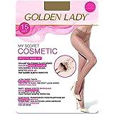 GOLDEN LADY Mysecret 15 Cosmetic Collant, 15 DEN, Trasparente (Melon 001a), Small (Taglia Produttore:2 – S) Donna