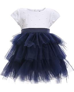 mit Blumen f/ür 9-24 Monate /Ärmellos Gulliver Baby M/ädchen Kleid 100/% Viskose Farbe Blau Kariert