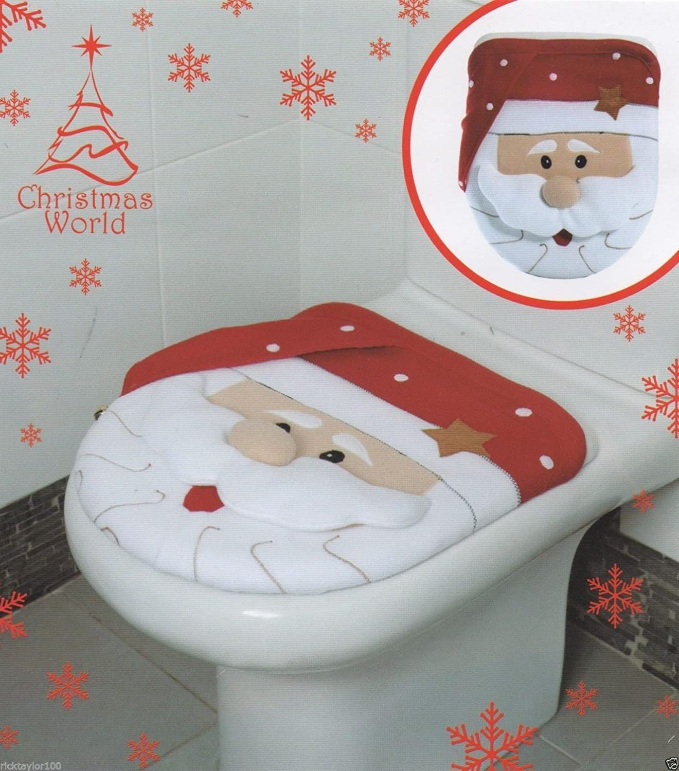 SANTA TOILET SEAT COVER Amazoncouk Kitchen Home