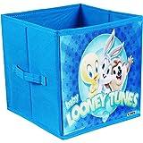 PrettyKrafts Loony Tunes Toys Organizer Storage Box for Kids, Small (Blue)
