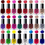 Noy Shine Paint Polish in Multicolor Bulk Nail Lacquer - (Violet, Brown, Nude, Light Grey, Dark Wine, Orange, Pink and…