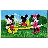 Micky Maus Wunderhaus Maus getanzt - Minnie Maus - Kinder Teppich Kinderteppich mit Micky Mouse und Minnie Mouse / Teppich / Kinder Teppich / Kinderspielteppich
