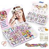 KAIMIRUI 1200pcs Cuentas para la Fabricación de Joyas para Niños Pulseras Collares de Joyas para Niñas Niños Bricolaje Conjun