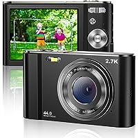 Digital Camera 2.7K Mini Video Camera Full HD 44MP 2.88 Inch LCD Screen 16X Digital Zoom…