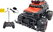 Popsugar 1:20 Off Roader Monster Truck with Remote Control Rechargeable Toy for Kids, Red
