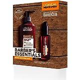 L'Oreal Men Expert Gift Set for Men, Barber's Essentials Beard Grooming Kit: Beard Oil and Beard Wash