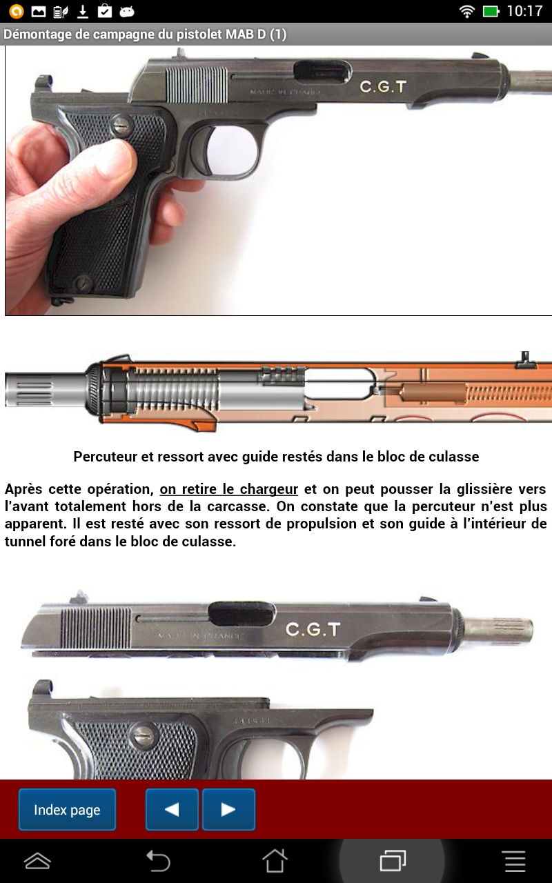 Le pistolet français MAB D expliqué: Amazon co uk: Appstore
