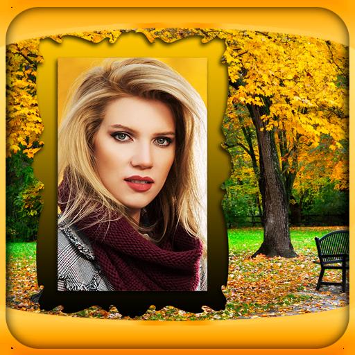 Herbst Bilderrahmen - Ente Frame