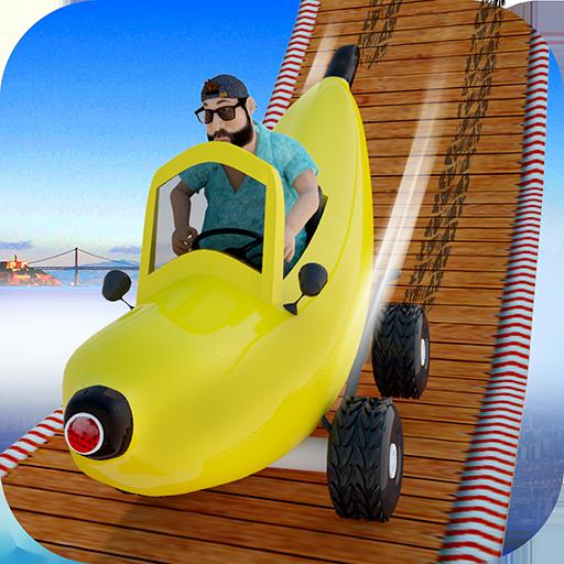 lustige Bananen-Autorennen: Stunt extreme Auto oben kostenlose Spiele für Kinder