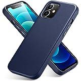 ESR Custodia in Vera Pelle Premium Compatibile con iPhone 12 e iPhone 12 PRO, Sottile in Pelle Pieno, Supporta la Ricarica Wi