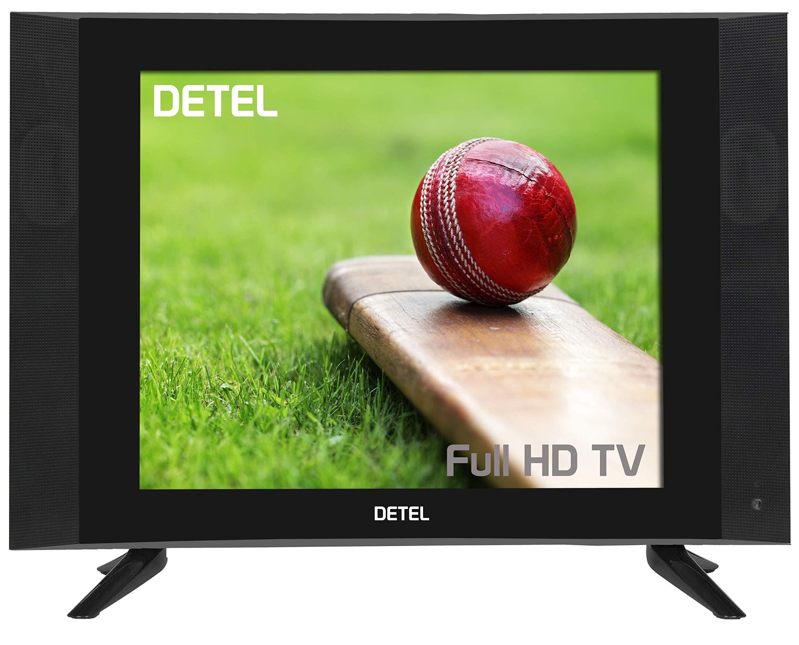 Detel 43cm (17 Inches) DI17F Full HD LED TV (Black) (2019 Model)