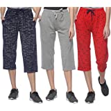 SHAUN Women's Cotton Capri (Pack of 3)