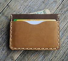 Braune und hellbraunee Kartenhülle, Portemonnaie, langlebige Aufbewahrung von Kreditkarten und Banknoten, kleine Geldbörse