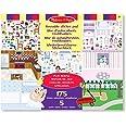 Melissa & Doug   Bloc D'Autocollants Réutilisables  Stickers   Pour garçon ou fille   Maison De Jeu