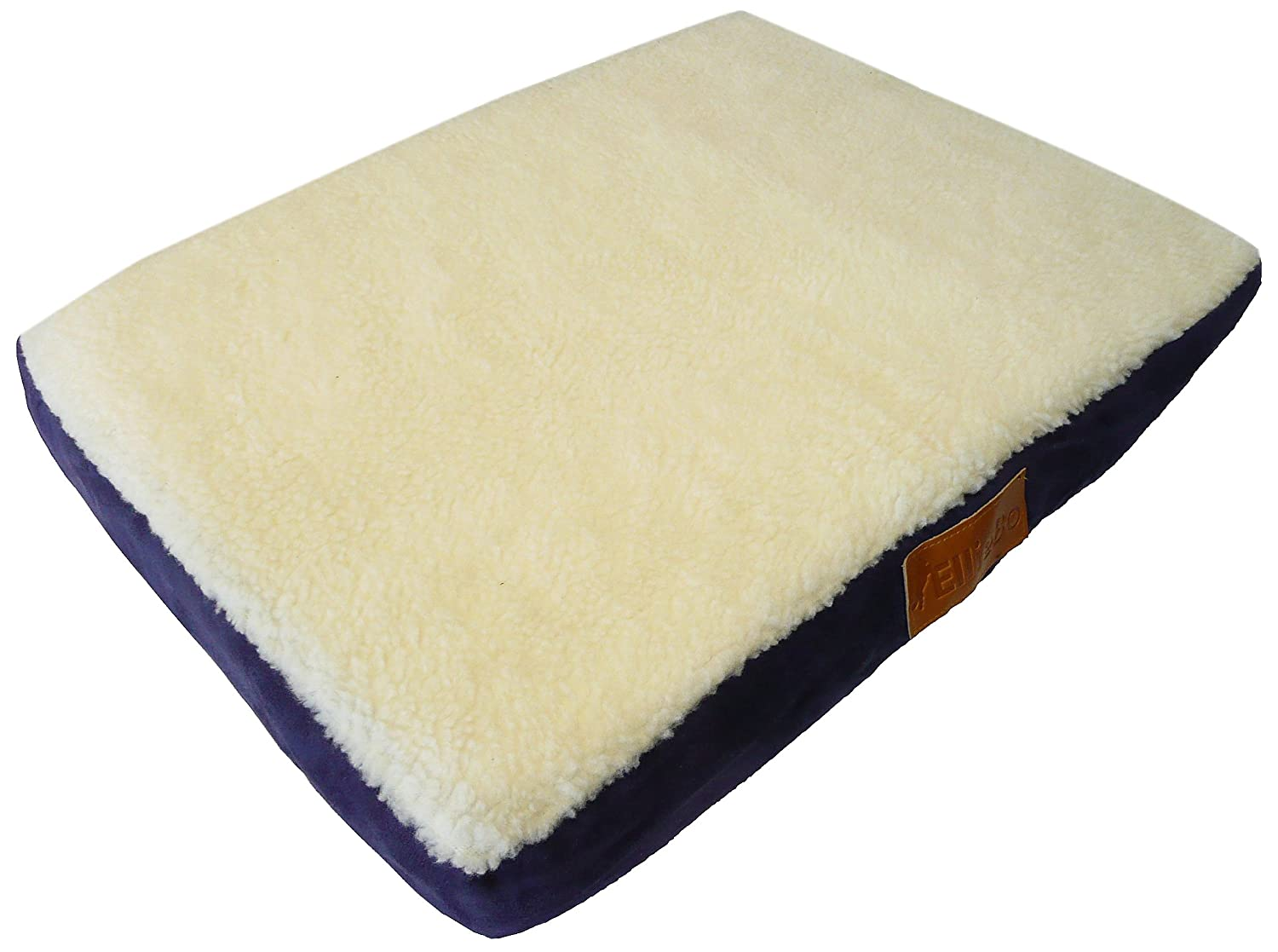 Ellie-Bo Memory Foam Orthopedic Dog Bed with Faux Suede and Sheepskin  Topping for Dog Cage/ Crate Large 36-inch Brown: Amazon.co.uk: Pet Supplies