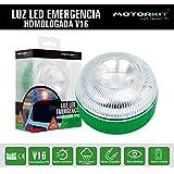 Motorkit Luz magnética LED de Emergencia homologada (V16) de Alta luminancia, sustituye a los triangulos, Apto para Uso con L