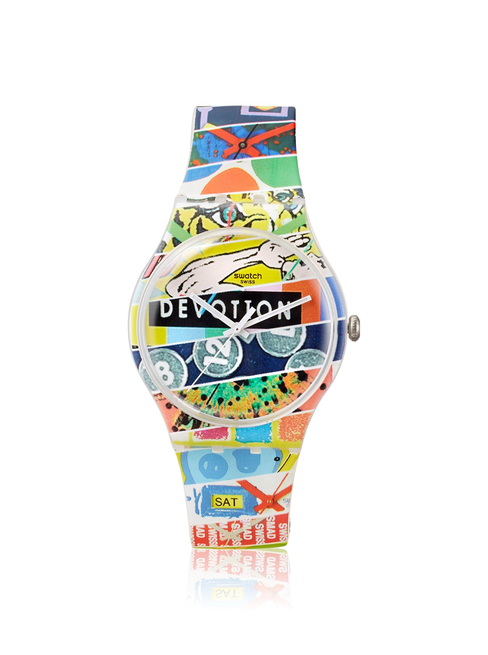 Swatch SUOZ170 – Reloj de pulsera unisex, Silicona, color multicolor