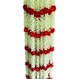 AFARZA; CHOICE GOOD FEEL GOOD Artificial Flower Toran Garlands Mogra Jasmine Door Wall Hanging (4 Piece)