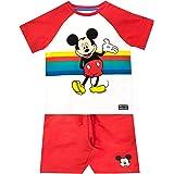Disney Camiseta Conjunto de Top y Shorts para niños Mickey Mouse
