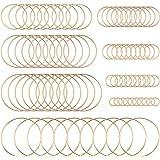80 stuks oorbellen frame roestvrij staal holle charm hanger geometrische charms holle frame hanger met 8 maten gouden lunette