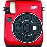 Fujifilm instax mini 70 - Cámara analógica instantánea (ISO 800, 0.37x, 60 mm, 1:12.7, flash automático, modo autorretrato, e