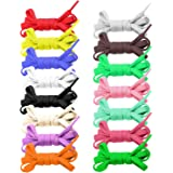 15 Shoelaces, 47inch Flat Shoe Laces Shoestrings for Sneakers Skates Sport Shoes Boots Assorted Colors