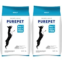 Purepet Adult Dog Food, 1.1 kg (Chicken and Vegetable, Special Offer Buy 1 and Get 1 Free)