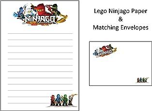 Lego Ninjago Briefpapier und 10 passende Briefumschläge, A5, 10 Blatt