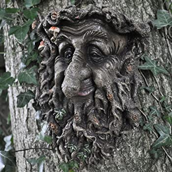 Treant Face Wall Plaque Large Garden, Greenman Decorative Garden Wall  Plaque. 22cm